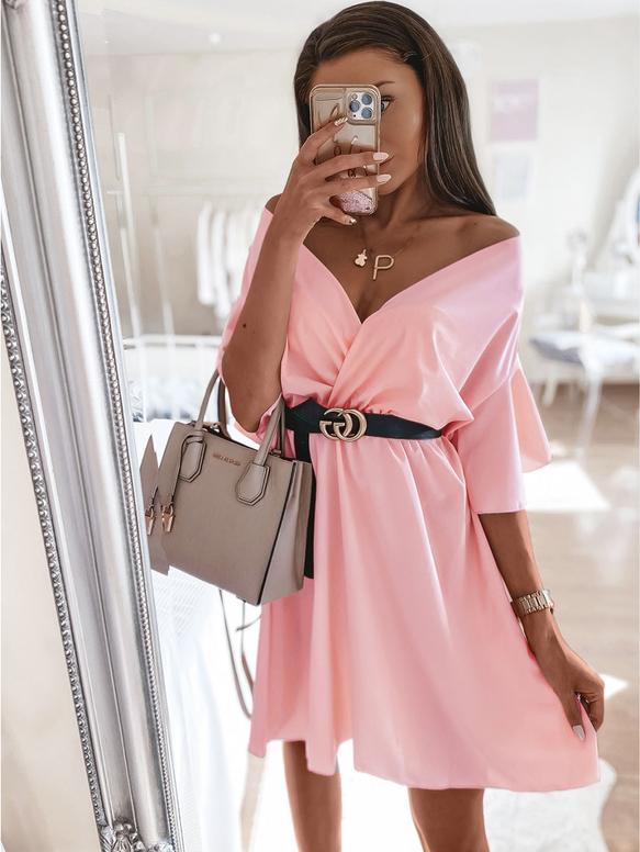 Sukienka magmac.pl kopertowa z długim rękawem mini