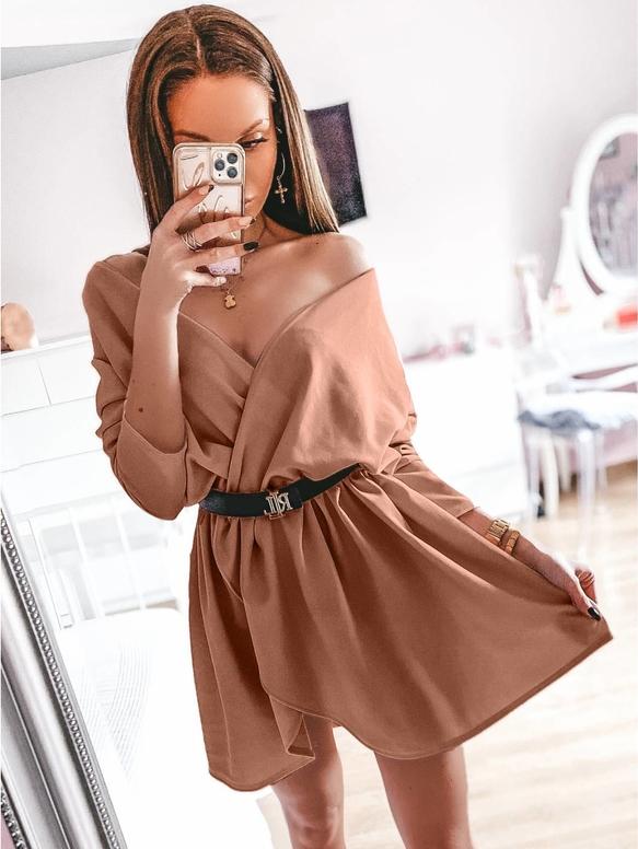 Sukienka magmac.pl w stylu casual mini z długim rękawem