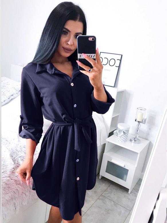 Sukienka magmac.pl z długim rękawem w stylu casual mini