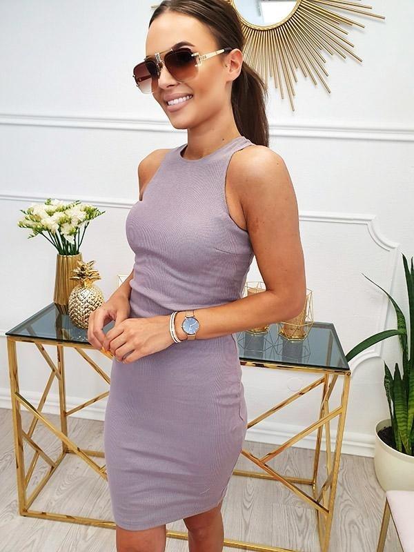 Sukienka Magneticsklep z bawełny mini bez rękawów