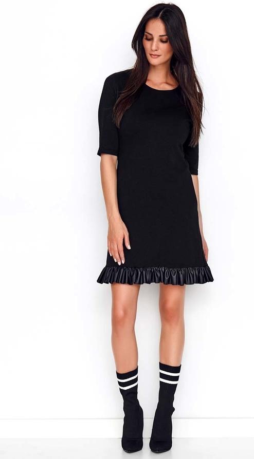 Sukienka Makadamia mini prosta z długim rękawem