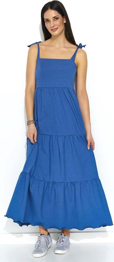 Sukienka Makadamia z bawełny maxi na ramiączkach