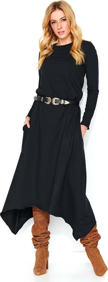 Sukienka Makadamia z bawełny z okrągłym dekoltem midi
