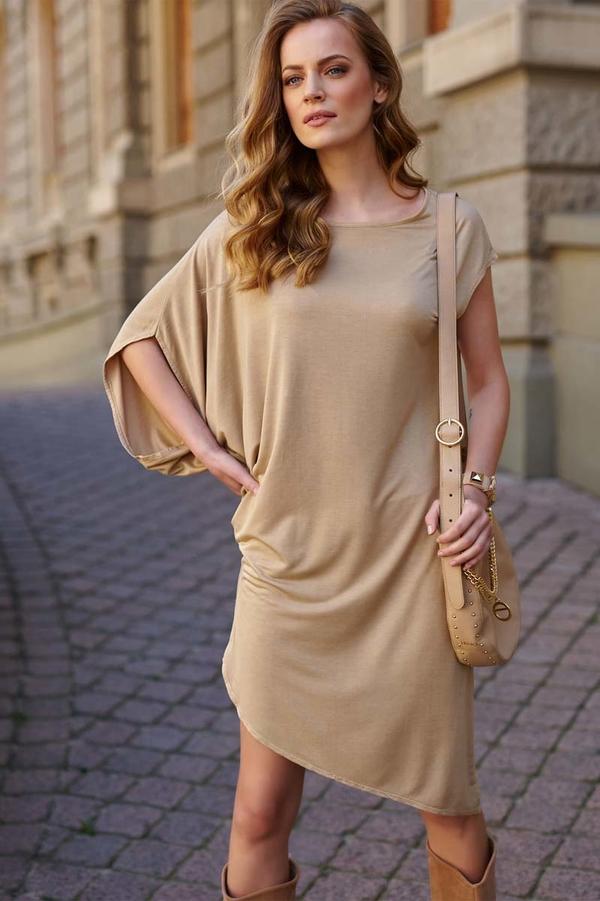 Sukienka Makadamia z długim rękawem asymetryczna