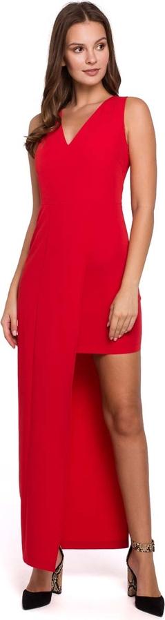 Sukienka Makeover asymetryczna maxi bez rękawów