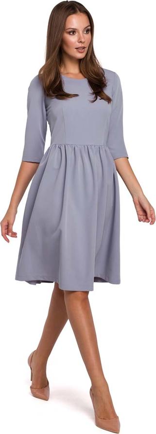 Sukienka Makeover z okrągłym dekoltem midi