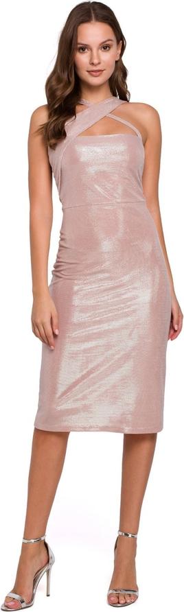 Sukienka Makover ołówkowa bez rękawów