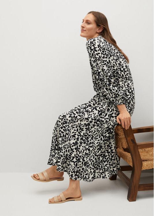 Sukienka Mango koszulowa z długim rękawem