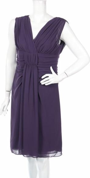 Sukienka Marco Pecci z dekoltem w kształcie litery v bez rękawów prosta
