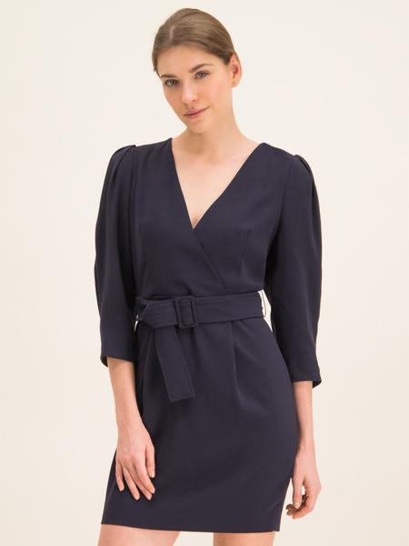 Sukienka Marella kopertowa z długim rękawem z dekoltem w kształcie litery v