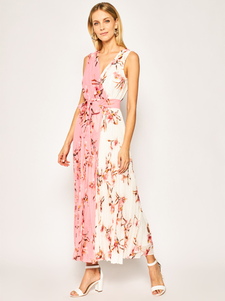 Sukienka Marella z dekoltem w kształcie litery v w stylu boho maxi