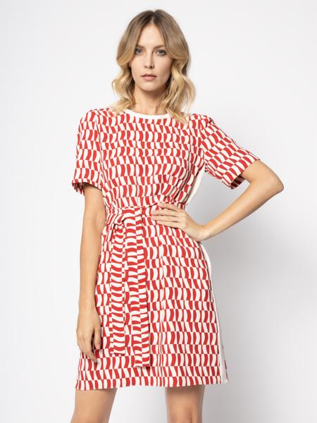Sukienka Marella z krótkim rękawem w stylu casual prosta