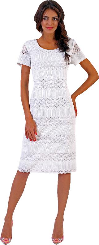 Sukienka Marselini midi z krótkim rękawem