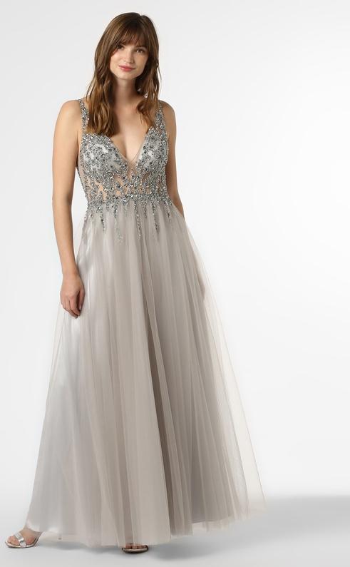 Sukienka Mascara bez rękawów z dekoltem w kształcie litery v maxi