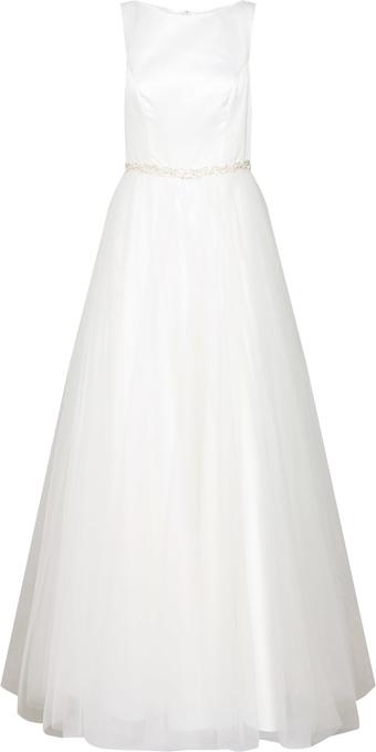 Sukienka Mascara bez rękawów z okrągłym dekoltem z satyny