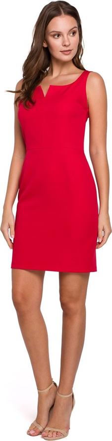 Sukienka Merg mini na ramiączkach dopasowana