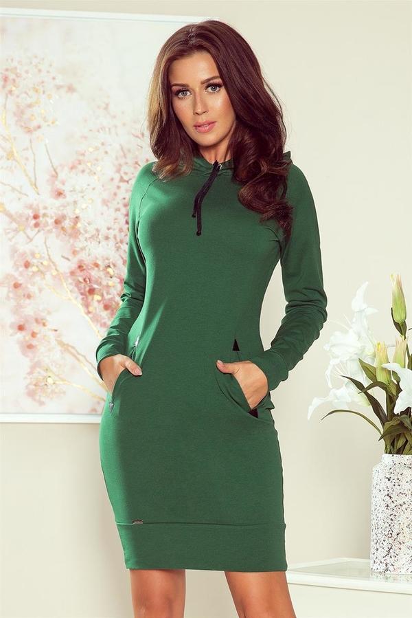 Sukienka Merg mini z długim rękawem dopasowana