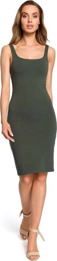 Sukienka Merg na ramiączkach midi ołówkowa