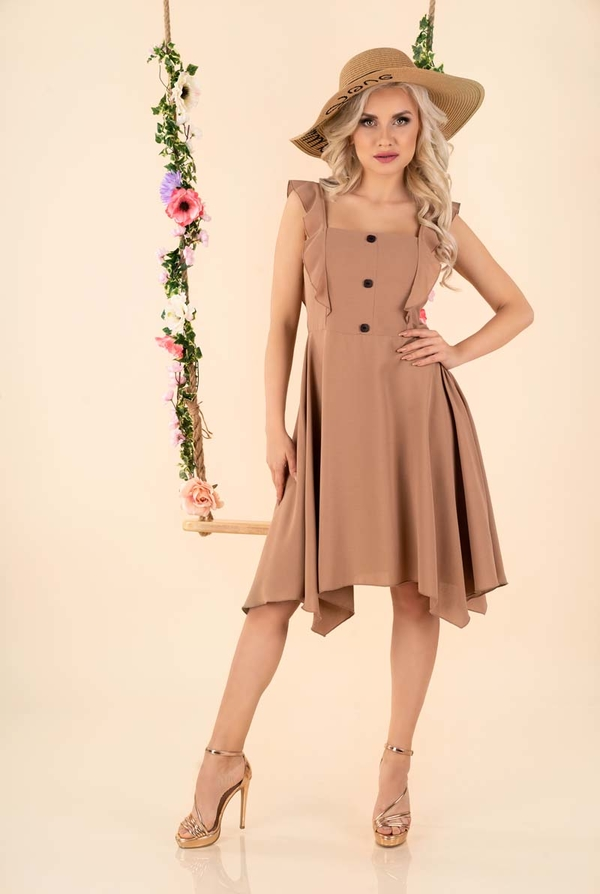 Sukienka MERRIBEL bez rękawów asymetryczna mini