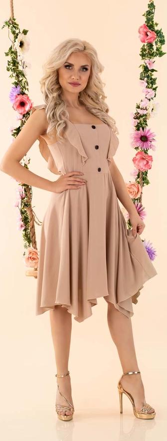Sukienka MERRIBEL na ramiączkach asymetryczna