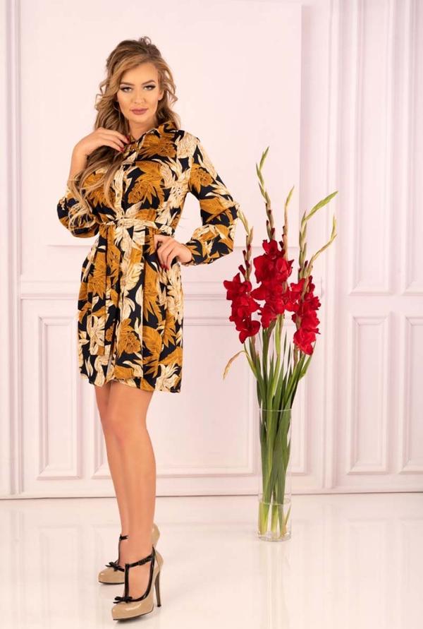 Sukienka MERRIBEL w stylu casual mini z długim rękawem