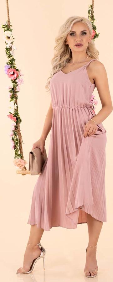 Sukienka MERRIBEL z dekoltem w kształcie litery v na ramiączkach