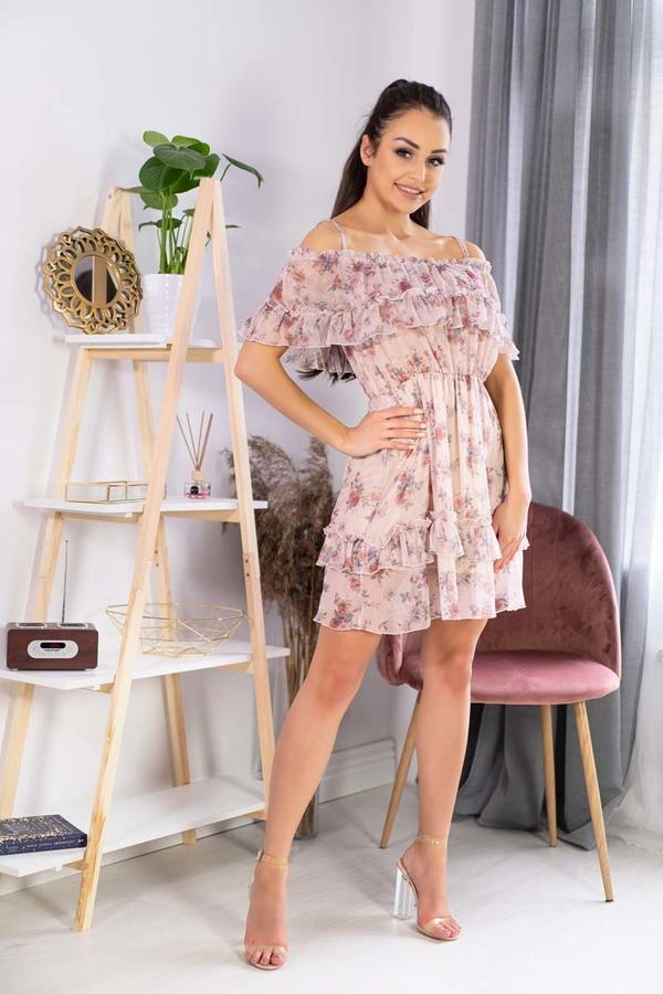 Sukienka MERRIBEL z krótkim rękawem rozkloszowana