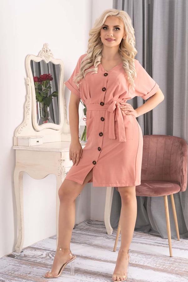 Sukienka MERRIBEL z krótkim rękawem szmizjerka z dekoltem w kształcie litery v