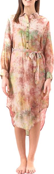 Sukienka Mes Demoiselles z okrągłym dekoltem z długim rękawem