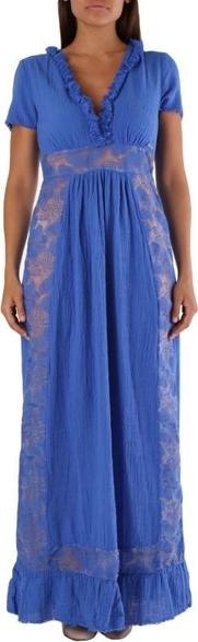 Sukienka Met maxi z krótkim rękawem z dekoltem w kształcie litery v