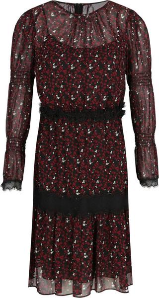 Sukienka Michael Kors mini z okrągłym dekoltem z długim rękawem