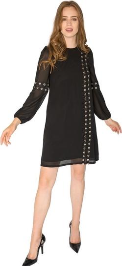 Sukienka Milena Płatek z okrągłym dekoltem prosta