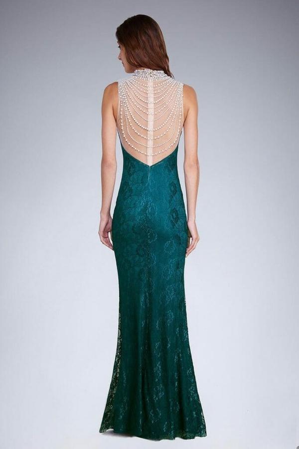 Sukienka Moda Dla Ciebie dopasowana z dekoltem na plecach bez rękawów
