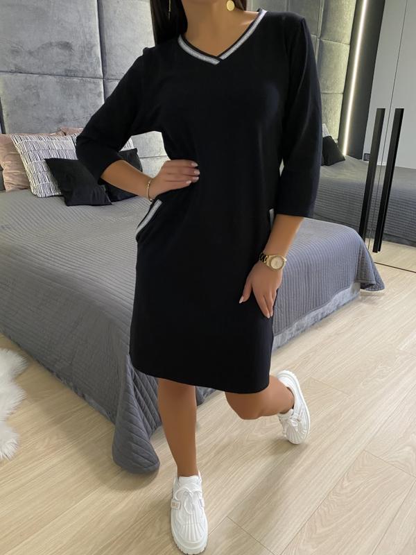 Sukienka ModnaKiecka.pl w stylu casual z długim rękawem