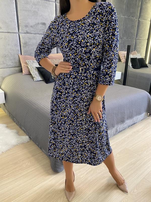 Sukienka ModnaKiecka.pl z dekoltem w kształcie litery v w stylu casual
