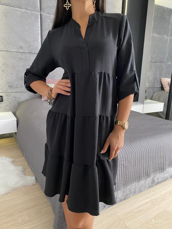 Sukienka ModnaKiecka.pl z długim rękawem w stylu casual mini