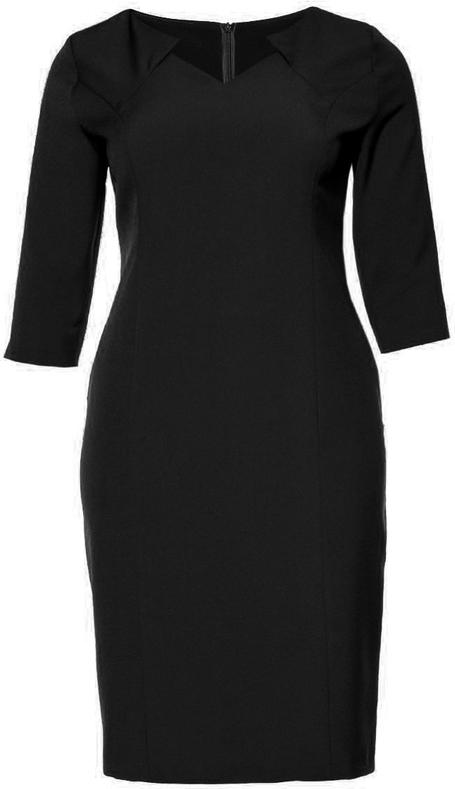 Sukienka modneduzerozmiary.pl midi z długim rękawem dla puszystych