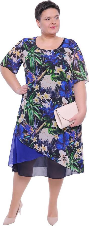 Sukienka modneduzerozmiary.pl w stylu casual z okrągłym dekoltem