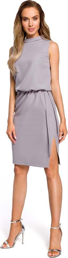 Sukienka MOE bez rękawów midi z okrągłym dekoltem