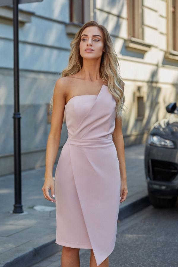 Sukienka MOE gorsetowa midi z tkaniny