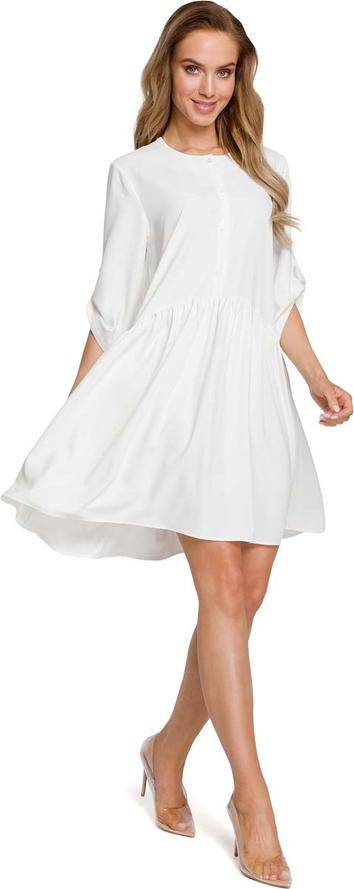 Sukienka MOE midi oversize z okrągłym dekoltem