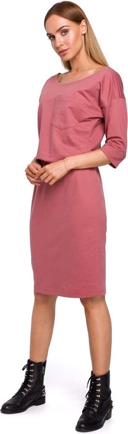 Sukienka MOE midi z bawełny w stylu casual