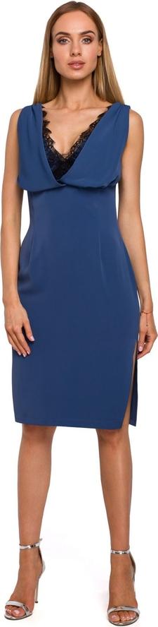 Sukienka MOE midi z dekoltem w kształcie litery v z tkaniny