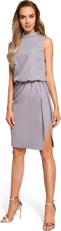 Sukienka MOE mini bez rękawów z tkaniny