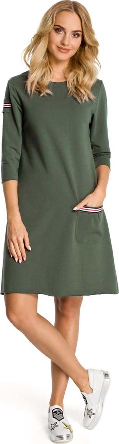 Sukienka MOE mini z okrągłym dekoltem