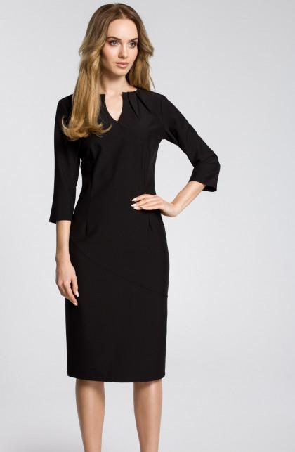 Sukienka MOE ołówkowa midi z krótkim rękawem