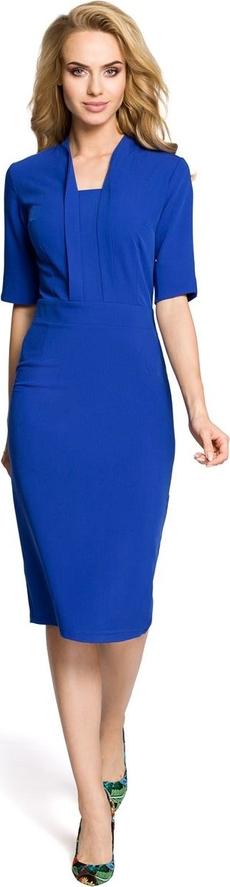Sukienka MOE ołówkowa z dekoltem w kształcie litery v z krótkim rękawem