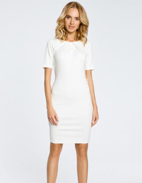 Sukienka MOE ołówkowa z krótkim rękawem