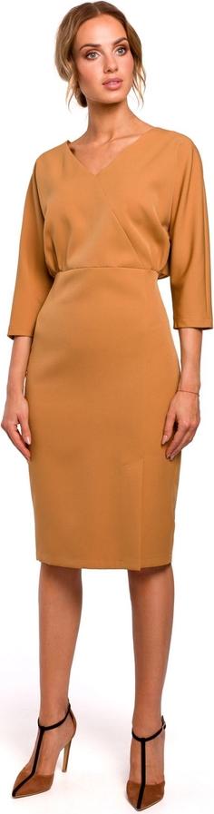 Sukienka MOE ołówkowa z tkaniny z długim rękawem