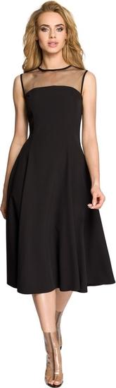 Sukienka MOE rozkloszowana midi bez rękawów